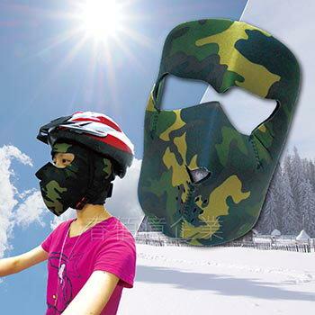 聖誕禮品/交換禮物 迷彩防曬面罩/迷彩面罩/迷彩頭套(1入) 迷彩面罩 忍者頭套 野外求生 漆彈作戰 冬夏可用 防風保暖 /防曬/騎車必備