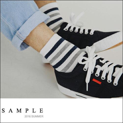 短襪 彩色粗橫紋~AS16522~~ SAMPLE