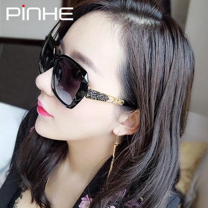 美琪 Pinhe優雅潮流大圓框個性女明星同款墨鏡