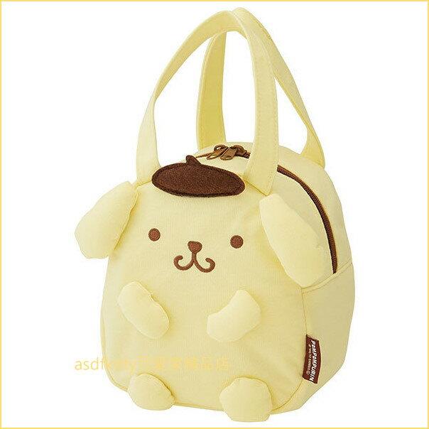 asdfkitty可愛家☆布丁狗造型棉布手提袋/手提包/便當袋-小巧可愛-大人小孩都好用-日本正版商品