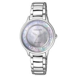 CITIZEN星辰 Eco-Drive 光動能典藏真鑽腕錶 em0380-65d/30mm