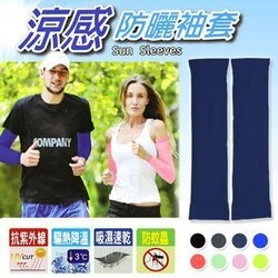 【H.Y SPORT】Light & Dark 抗UV 涼感防曬袖套(露指型-加長)/ 台灣製