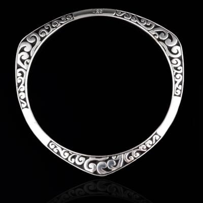 ~925純銀手環 手鍊~ 簡約 七夕情人節生日 女飾品73ap12~ ~~米蘭 ~