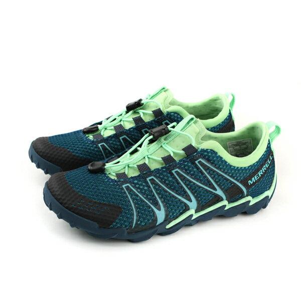 MERRELLTETREX運動鞋多功能鞋深藍淺綠女鞋ML18482no908