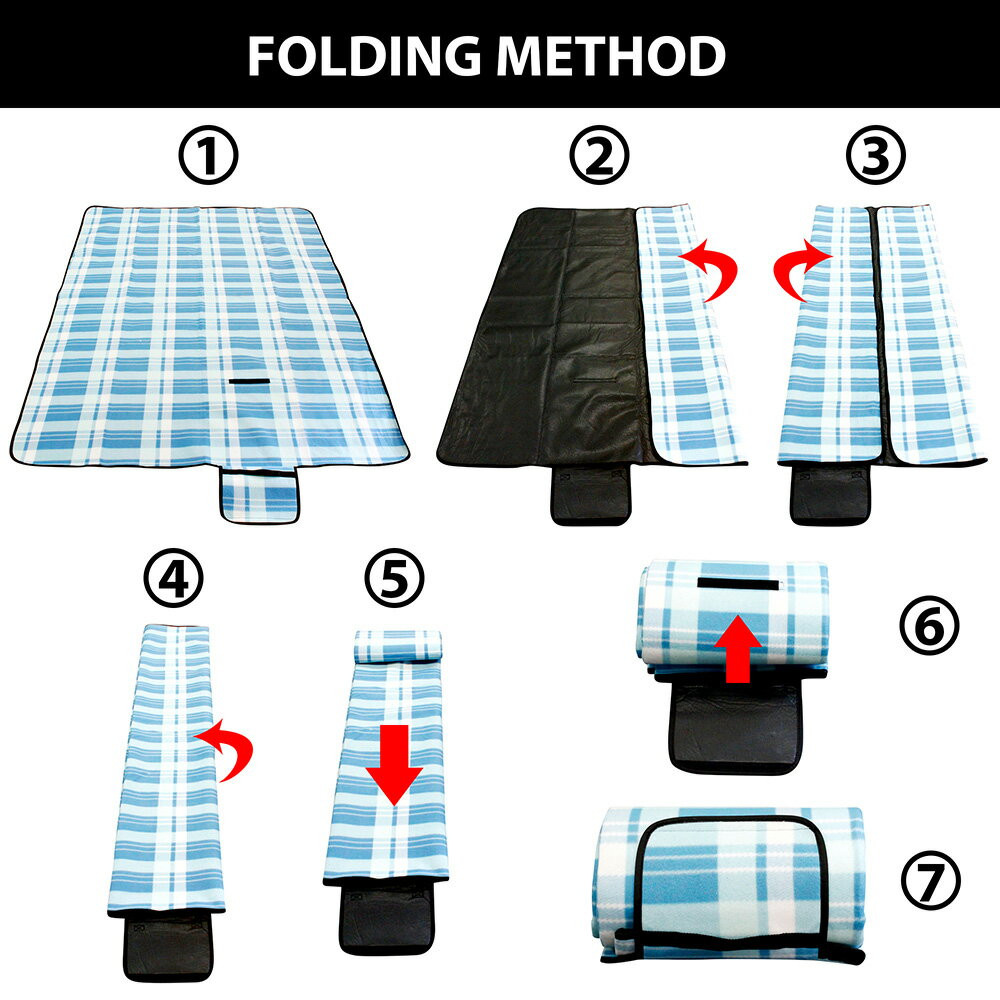 Outdoor Waterproof Picnic Blanket For Foldable Beach Mat Sleeping Pads Camping Hiking Rug 6
