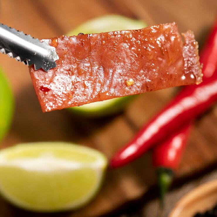 嚴選泰式檸檬豬肉乾 200g / 包 肉乾 零嘴 台灣製造 新鮮食材 特選豬肉(含辣椒、檸檬) 1