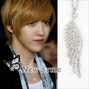 ☆ New Style ☆ EXO Kris 吳亦凡 同款希望天使翅膀項鏈