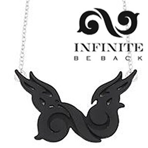 ☆ New Style ☆ INFINITE BE BACK 同款永恆之翼項鏈 韓國進口ASMAMA官方正品
