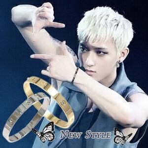 ☆ New Style ☆ 韓國進口 EXO Call me baby TAO 黃子韜 鎖住幸福 同款永恆之愛精鋼手環