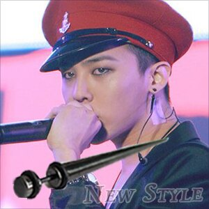 ☆ New Style ☆ BIGBANG GD 權志龍 G-Dragon 同款圓帽長尖錐穿刺耳環 (單支價)