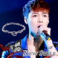 ☆ New Style ☆ EXO LAY 張藝興 同款極簡風格OT扣手鏈手環 (單只)