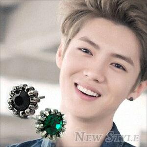 ~ New Style ~ 韓國 EXO Luhan 鹿唅 重返20歲 同款葵花彩鑽耳釘耳