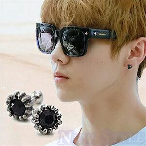 ~ New Style ~ 韓國 EXO 鹿唅 JYJ 金在中 西德鋼 同款復古葵花鑲鑽穿