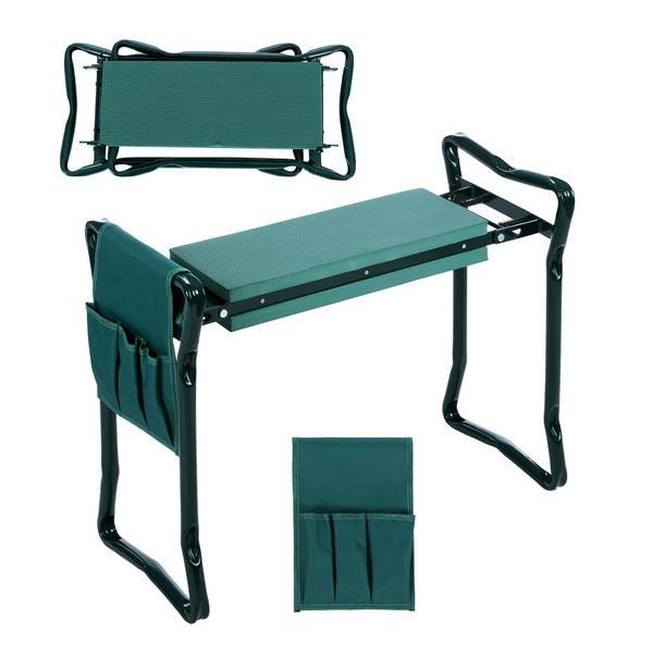 Folding Garden Seat Kneeler Kneeling Pad Rest Outdoor Lawn Beach Chair With Tool Pouch 1