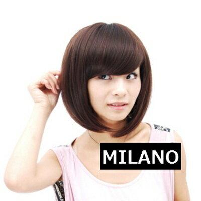 假髮整頂假髮短假髮~ 潮流迷人斜瀏海女 2色73em56~ ~~米蘭 ~ ~  好康折扣