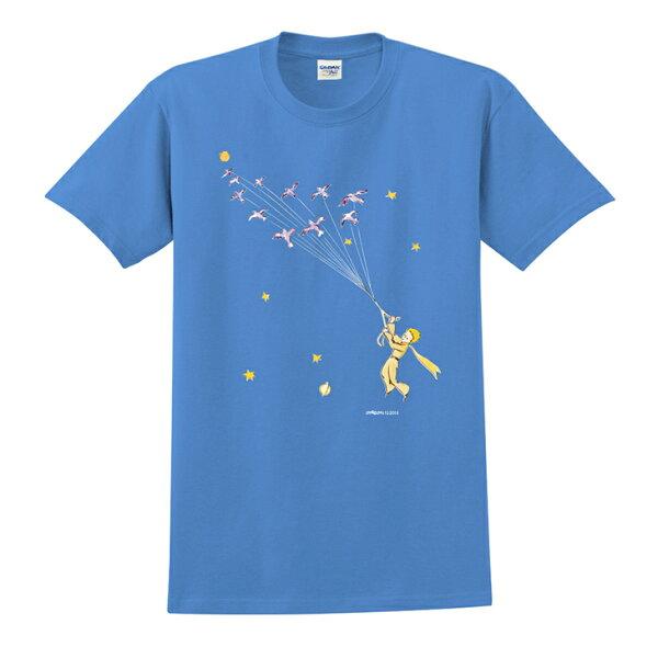小王子經典版授權 - T-shirt 短袖-修身:【 帶我去旅行 】 ( 白 / 粉紅 / 水藍  / 麻灰 / 果綠 / 黃 /  藏青 / 黑 / 寶石藍 )