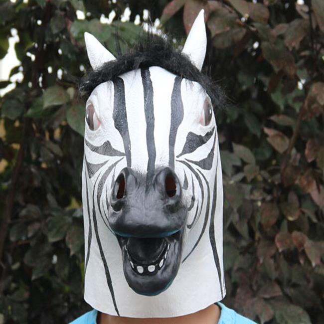 班馬面具 頭套 馬頭面具 洛克馬 斑馬 動物 面具/眼罩/面罩 cosplay 派對 變裝【塔克】