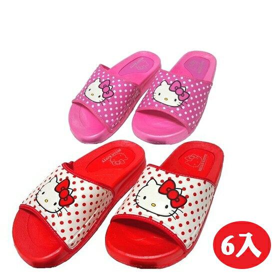 【晨光】台灣製Hello Kitty厚底拖鞋(紅、桃色)-6入(915077) 【預購】