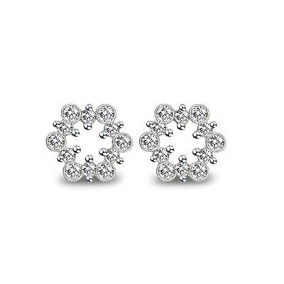 ~925純銀耳環鑲鑽耳飾~  情人節 女飾品73dm70~ ~~米蘭 ~