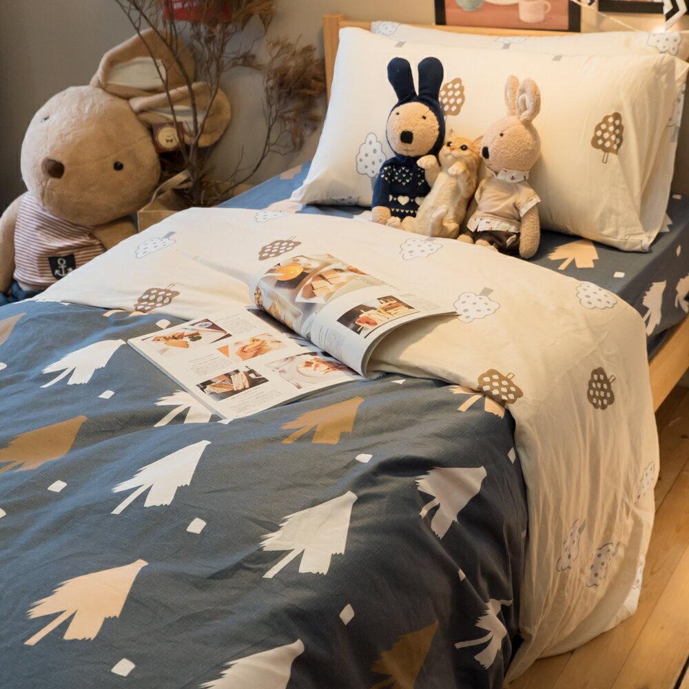 賴床森林 床包/被套/枕套 單品賣場 100%復古純棉
