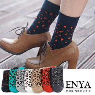 豹紋點點襪子 Enya恩雅(正韓飾品)【FIAW4】