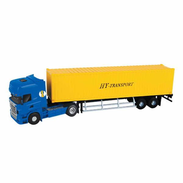 【888便利購】HY1:50高仿真合金貨櫃車(黃色)(5012-23)(授權)