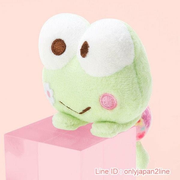 【真愛日本】17022100035造型趴趴玩偶-KR小花+AAF     三麗鷗家族  Keroppi 大眼蛙   娃娃 玩偶
