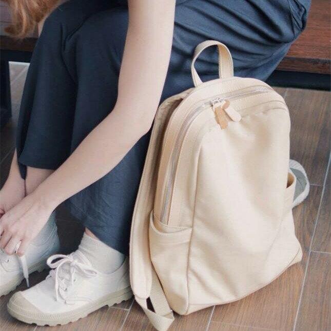WHITEOAK 超實用多夾層配色backpack帆布包(6色) 3