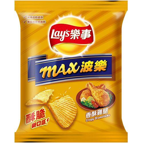 樂事max波樂洋芋片-香酥雞腿43g【愛買】