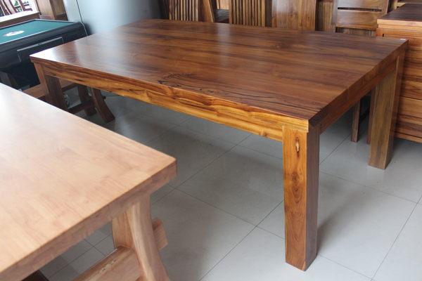 【石川家居】WF-100 100% 3.5*7尺 柚木餐桌 泡茶桌 原木 會議桌
