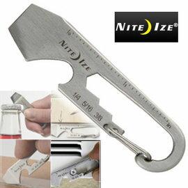 NITE IZE 迪希基多用工具/開箱刀/開瓶器/六角扳手/尺/一字螺絲起子 KMT-11-R3 銀