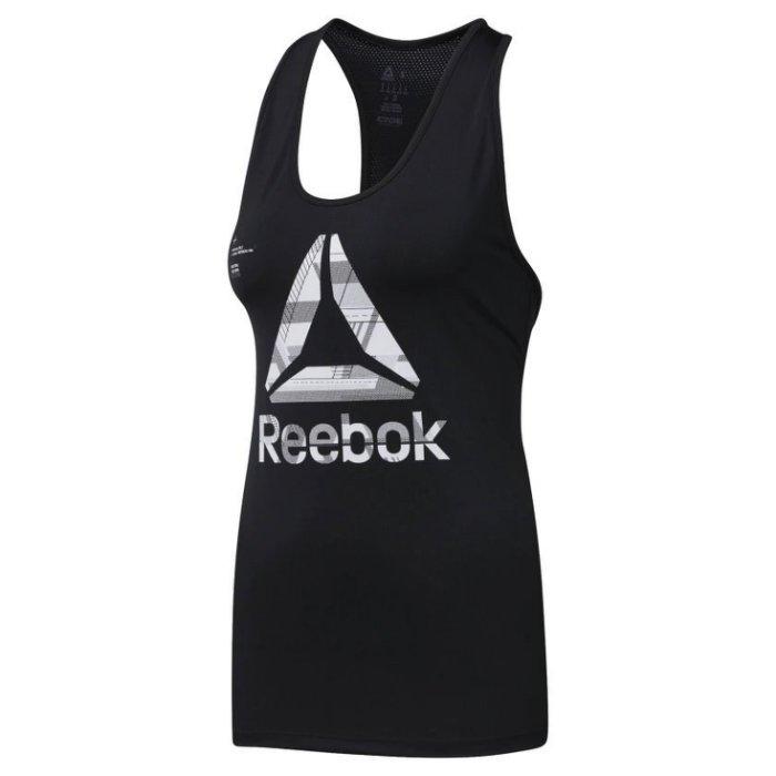 REEBOK ACTIVCHILL GRAPHIC 女裝 背心 慢跑 訓練 柔軟 透氣 舒適 黑 【 世界】 DU4168