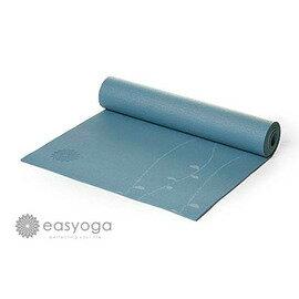 easyoga 瑜珈墊 專業花草瑜珈墊 6mm-藍色