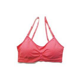 可調肩帶運動內衣-桃紅色