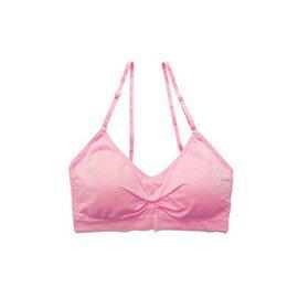可調肩帶運動內衣-淺桃紅