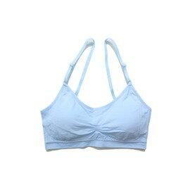 可調肩帶運動內衣-淺粉藍
