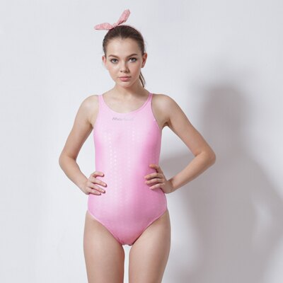 【≡MARIUM≡】大女競賽型泳裝/小月型印花─粉紅色─中叉(MAR-8002WA)