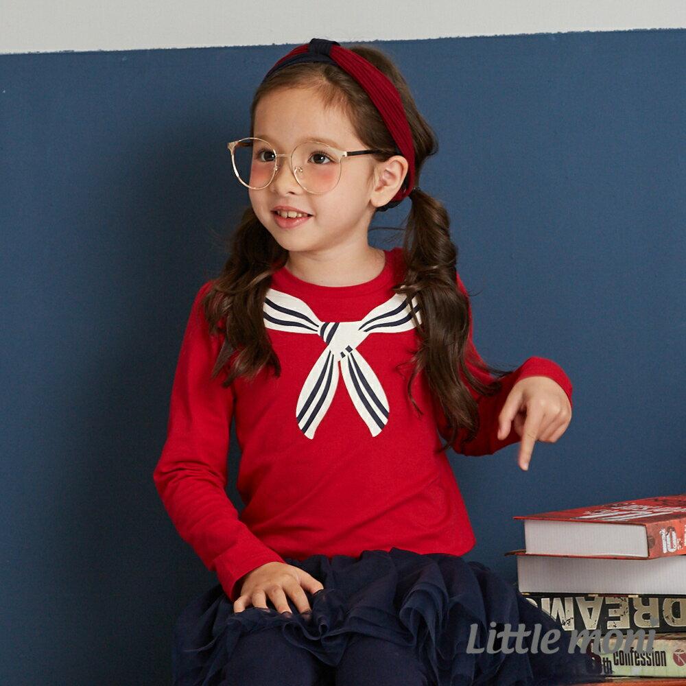 Little moni 學院風印圖上衣-紅色(好窩生活節) 0