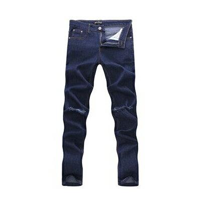 DITION 窄管牛仔褲 原色DENIM微刷破口袋皮革 彈力 合身 1