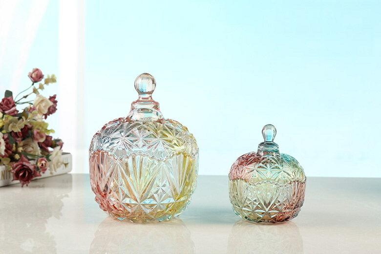 皇冠水晶玻璃罐(小-10.5X13cm) [大買家] 2