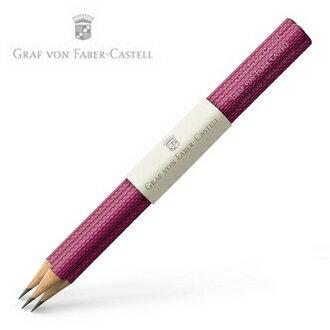 【Graf Von Faber-Castell】繩紋飾 螢光粉 V118626 鉛筆3支入 /組