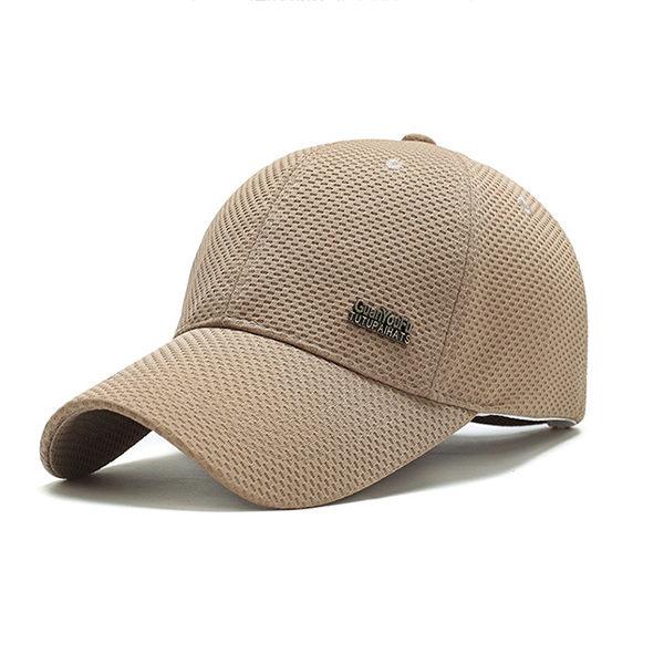 PS Mall 春夏網布棒球帽男 中年戶外遮陽帽子【G1006】 3