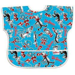 【美國Bumkins】兒童(1-3歲)短袖防水圍兜-帽子貓 BKU-C01【保證公司貨】【淘氣寶寶】