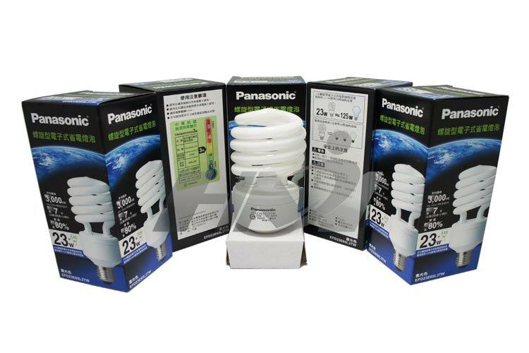 《Panasonic國際牌》 螺旋電子式省電燈泡 23W (晝光色/燈泡色) (1入) 護眼燈泡
