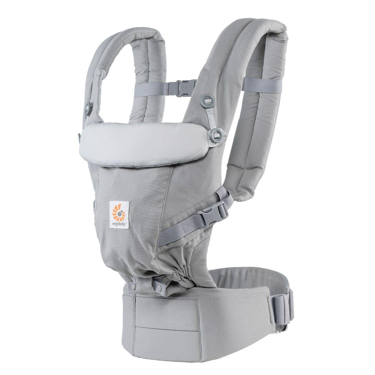 【淘氣寶寶】【總代理公司貨】美國 ergobaby ADAPT全階段式嬰兒揹帶/背巾/揹巾 灰色【贈美國製醫療香草奶嘴3顆】