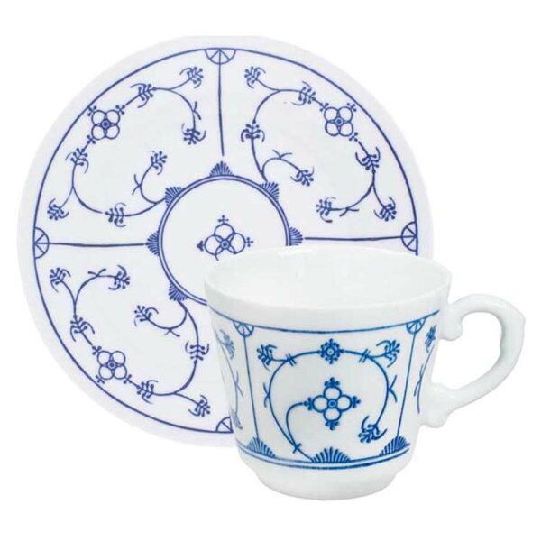 KAHLABlauSaks系列-180ML咖啡花茶杯盤組