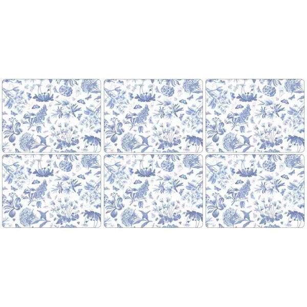 英國Portmeirion植物藍6入餐墊組