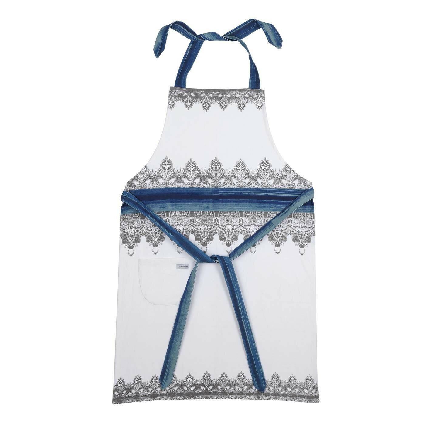 藝術藍染布織70X95CM圍裙