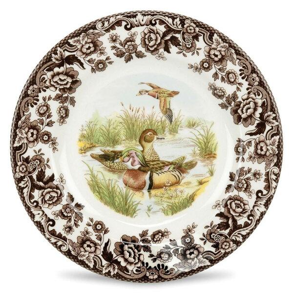 森林地帶27CM(10.5吋)主餐盤-白翼木鴨