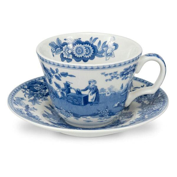 藍廳220ML花茶咖啡杯盤組-井邊女孩